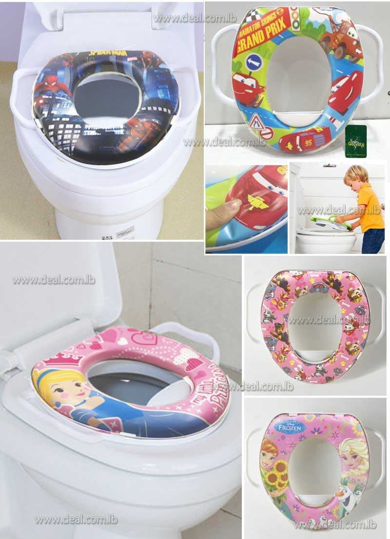 Soft Baby potty seat toilet training  with cushion with pattern