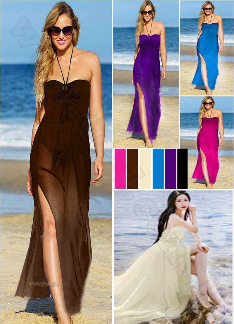 Solid Colors Chiffon  Caftan