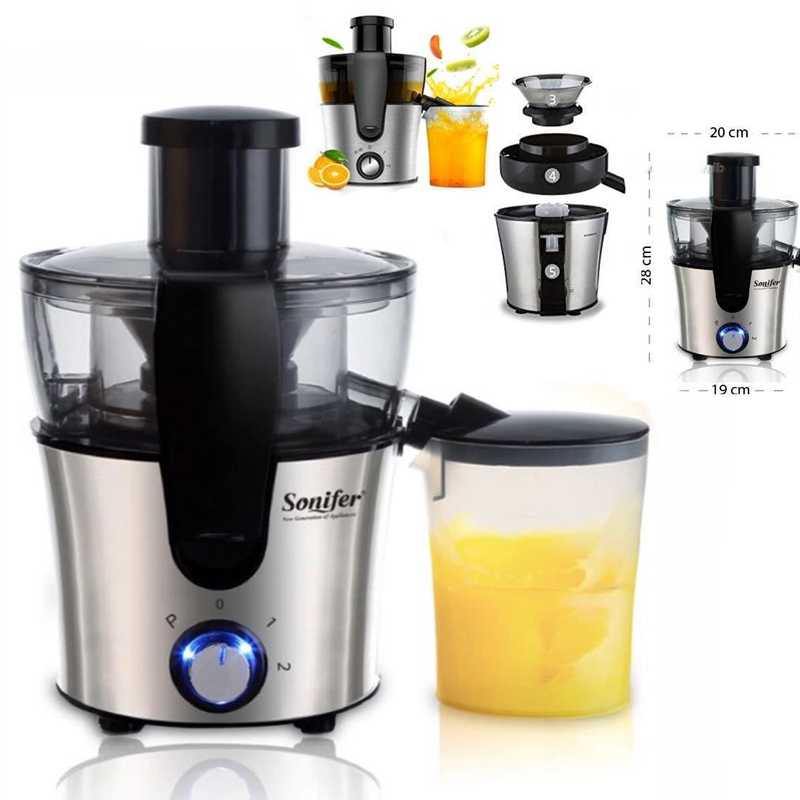 Sonifer Dual Speed Fruit And Vegetable Juice Extractor Removable Stainless steel Juicers Fruit Drinking Machine