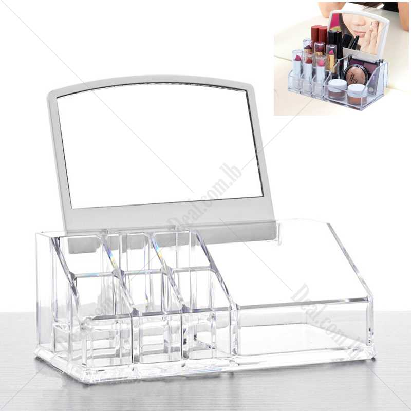 Sorbus Acrylic Cosmetic Makeup Organizer With Mirror
