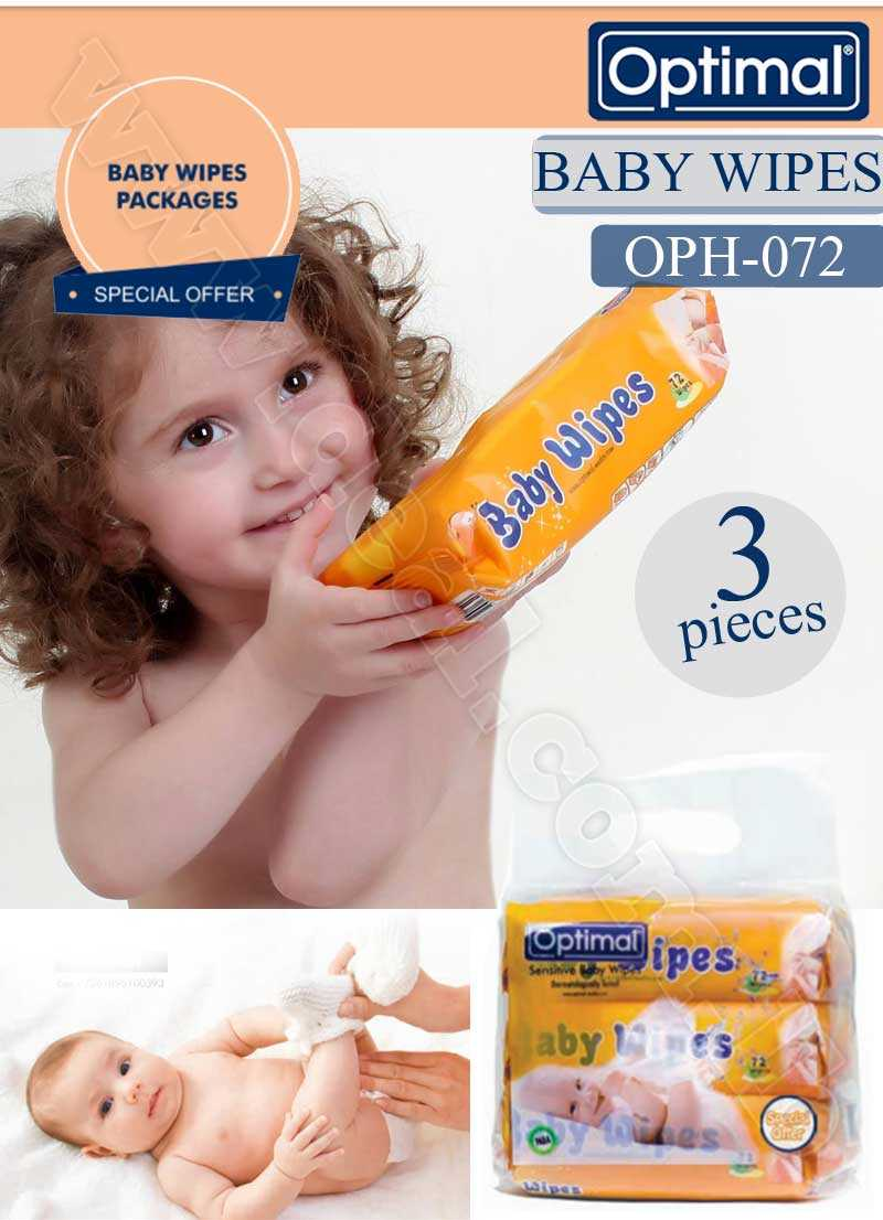Special Offer Set Of 3 pcs Baby Wipes Optimal OPH-072