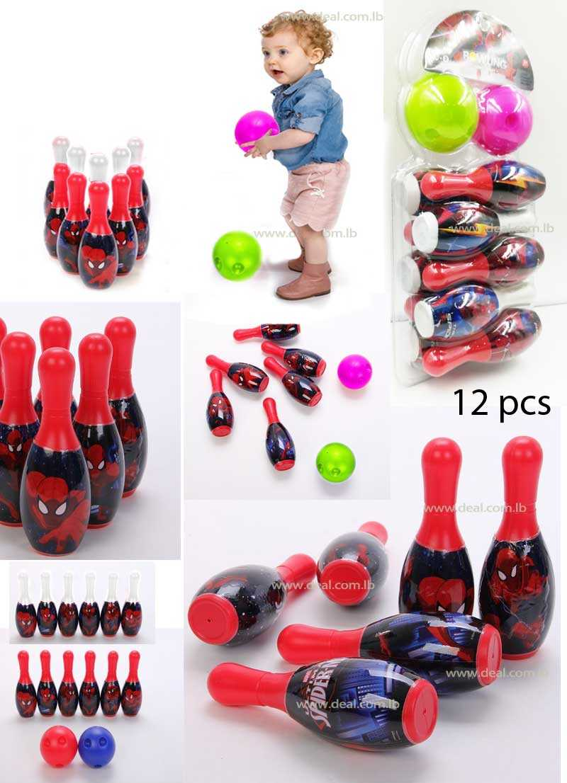 Spider man 10 Pcs Children Bowling Set With 2 Mini Ball
