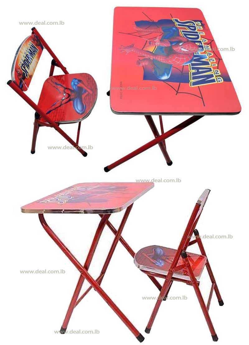 Spider man Kids Foldable Study Table And Chair