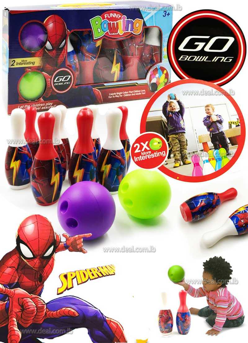Spiderman Funny Bowling Set