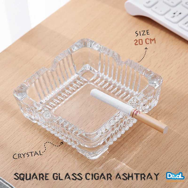 Square Crystal Ashtray Glass Ashtray Creative Personality Large