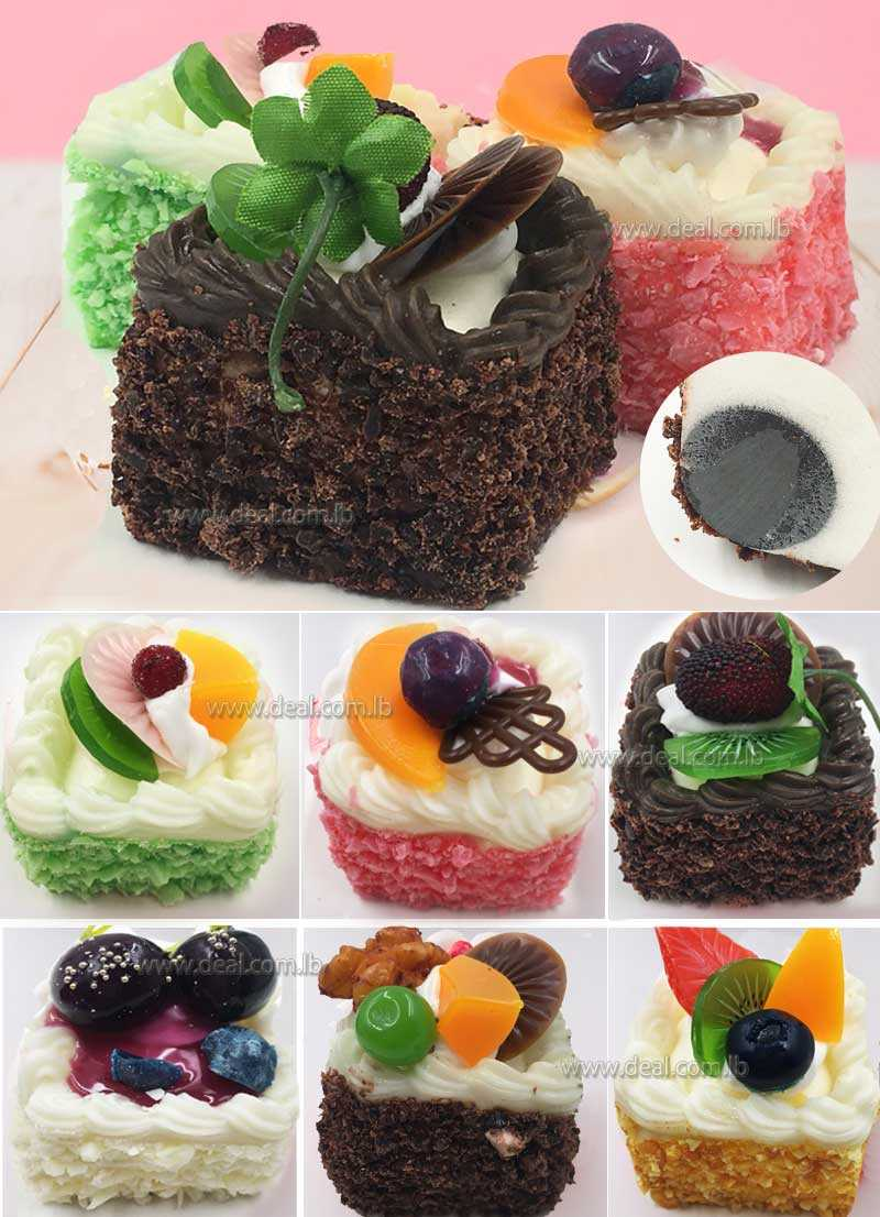 Squishy square cake polymer clay accessory  sanqi craft factory