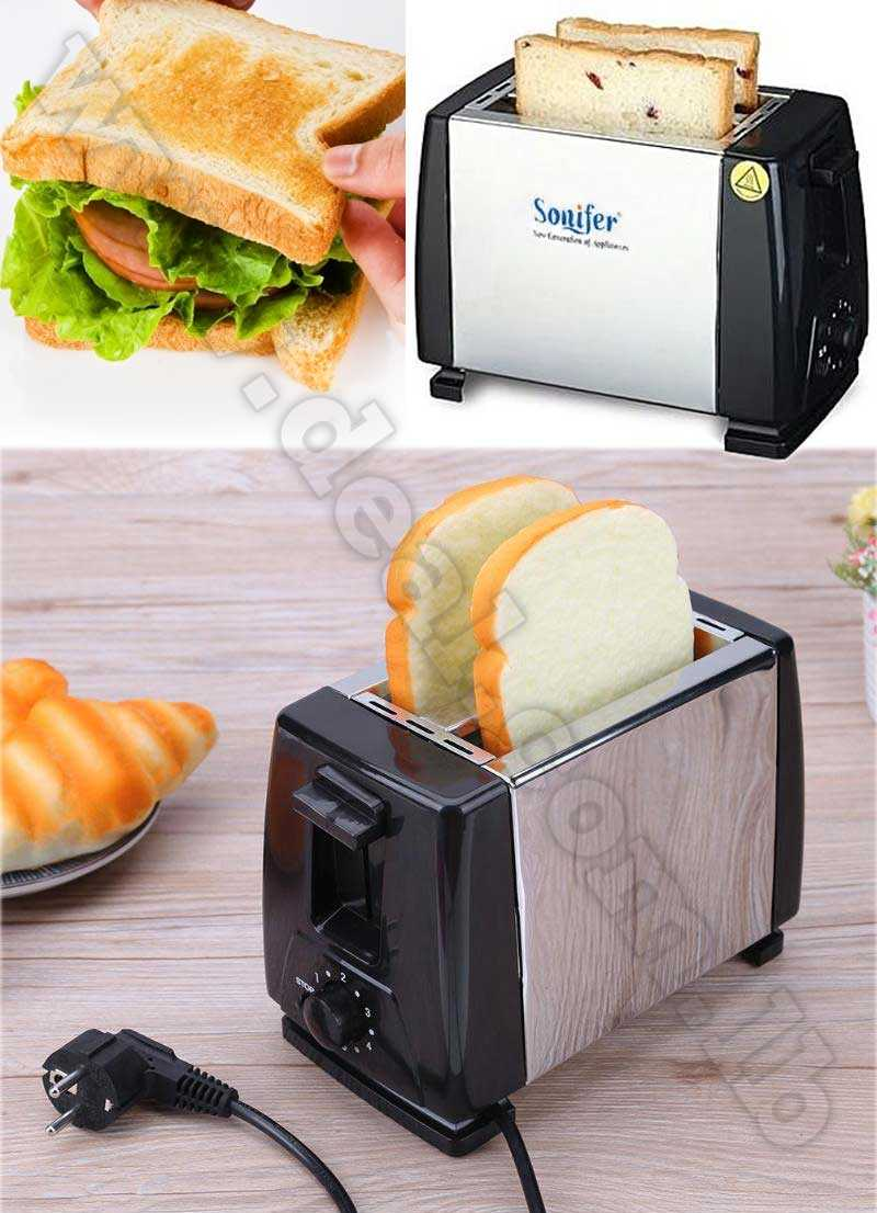 Stainless steel 2 Slices Slots Bread Maker