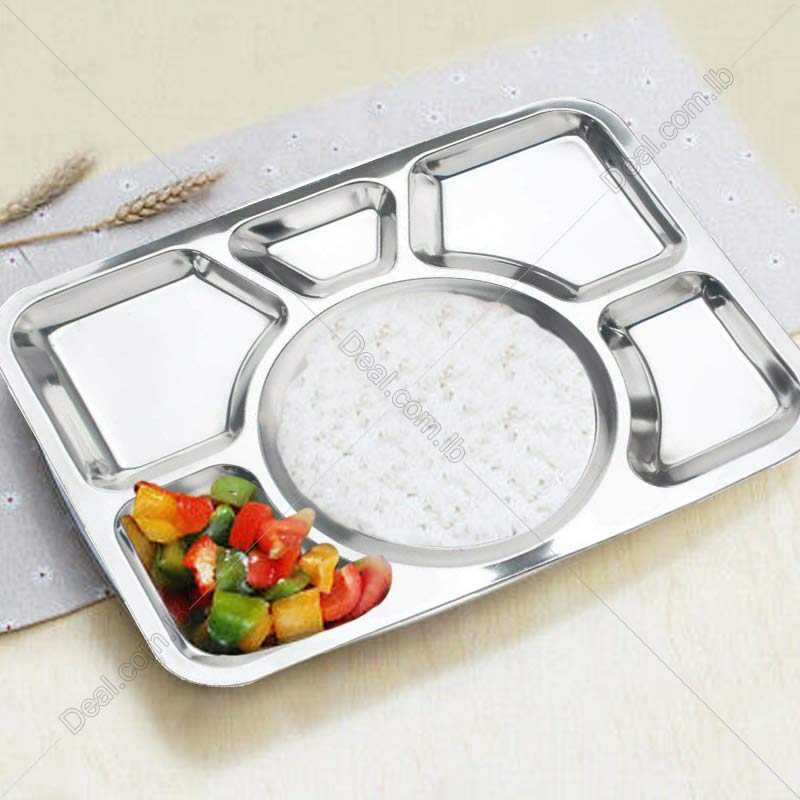 Stainless steel Divided Lunch Food Serving Bento Box Tray