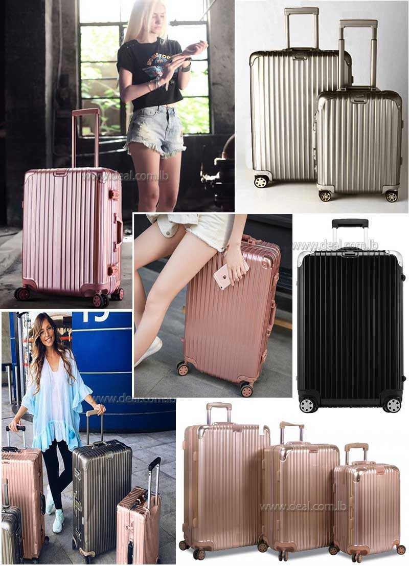 Star rose gold aluminum frame trolley suitcase caster evala suitcase luggage board chassis package 202426 inch