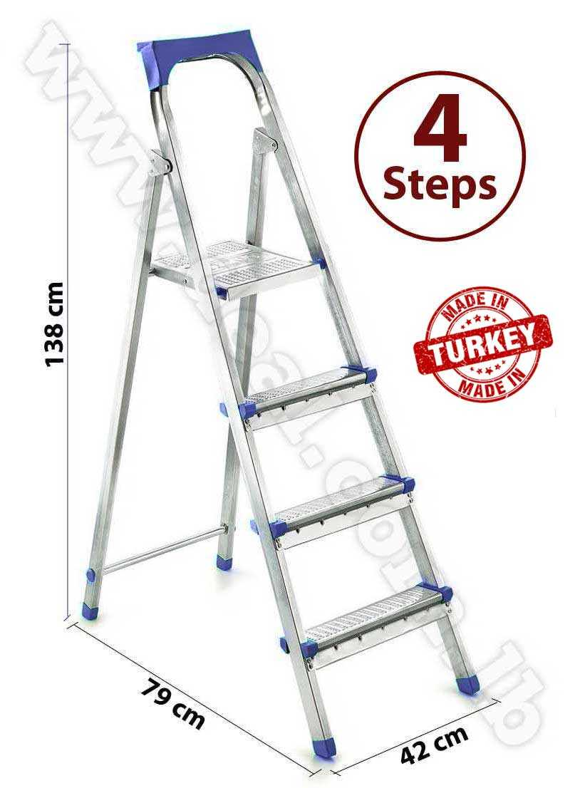Straight 3 + 1 Stepped Folding  Ladder