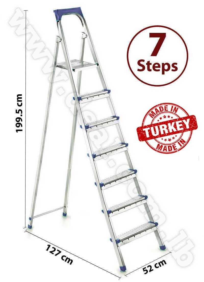 Straight 6 + 1 Stepped Folding Ladder