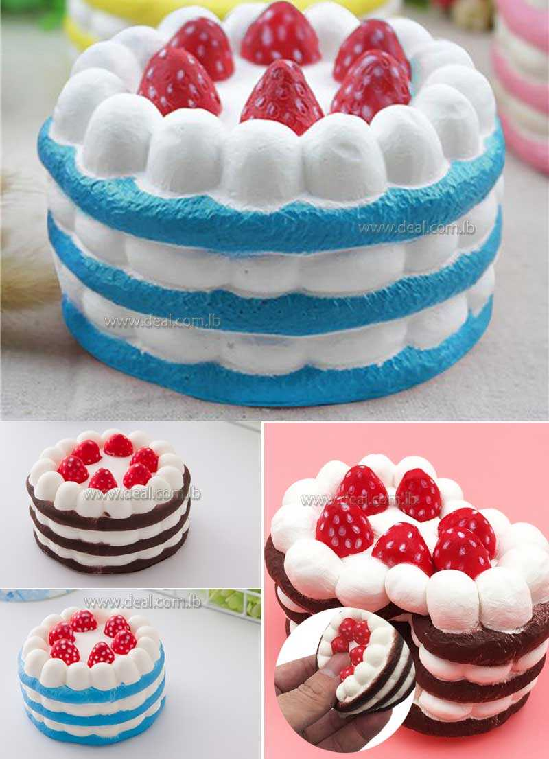 Strawberry Cake Cream Hot 12cm Squishy Kawaii Shape Scented Slow Rising Relieves Stress Toy for Child Adult