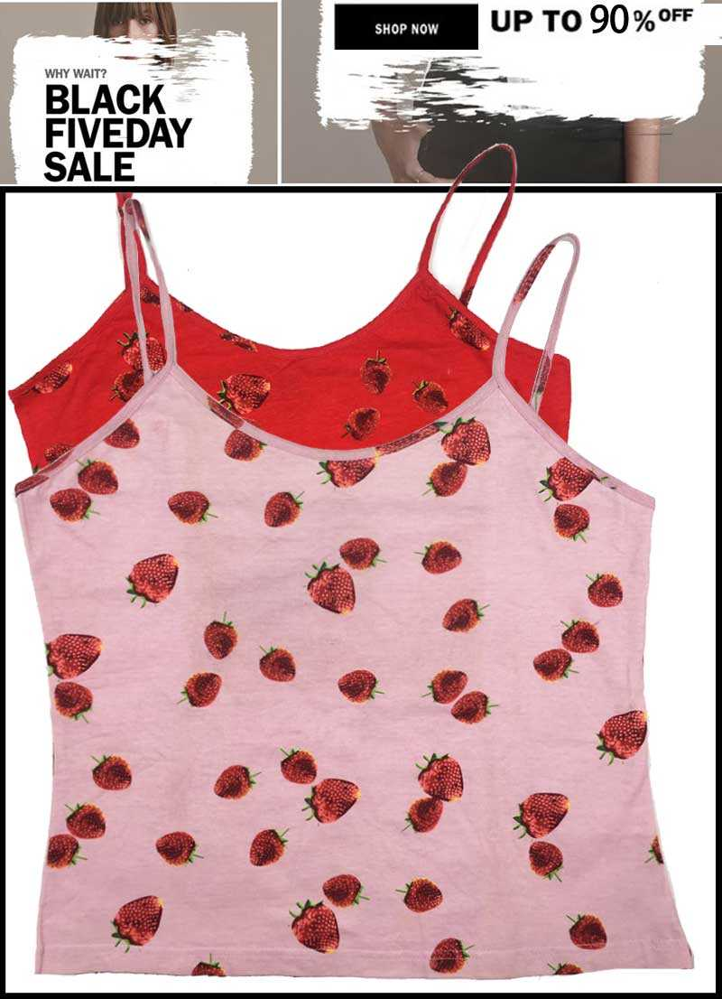 Strawberry Spotted sleeveless Top