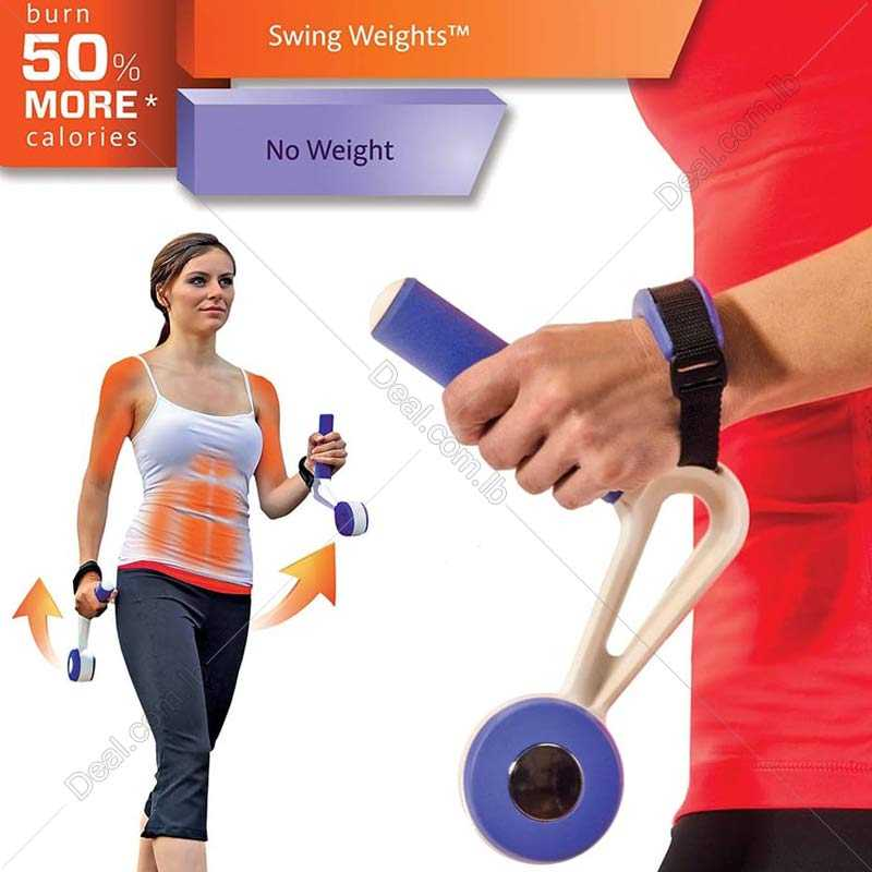 Swing Weights Innovative Walking Weights Boost Cardio Fitness