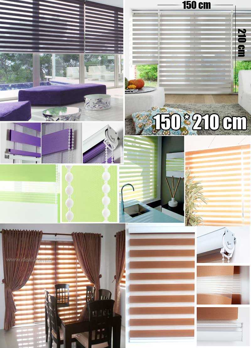 Tracery+Duo+Roller+Blinds+Solid+Colors+150%2A210+CM