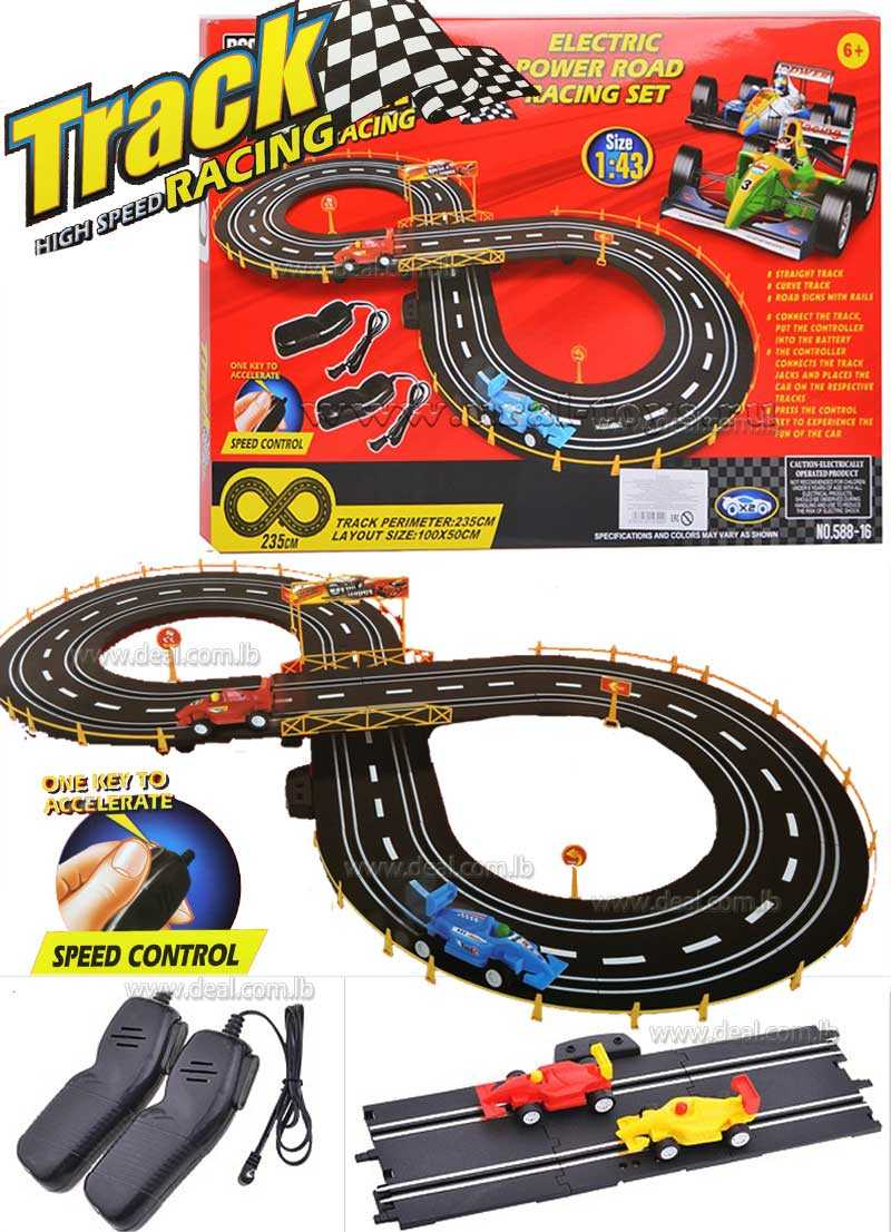 Track high speed electric power road racing set