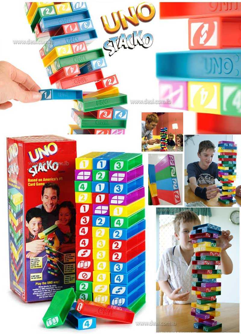 Uno Stacko Stacking Block Game