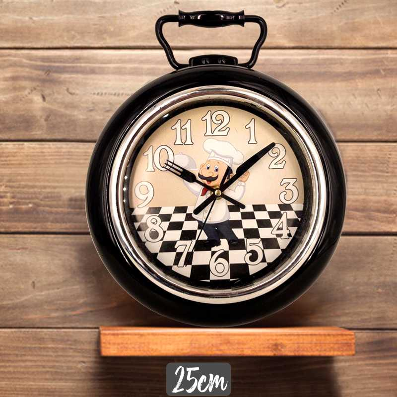 Wall clock model frying pan