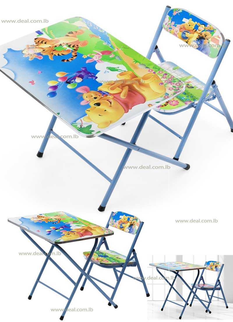 Winnie the Pooh Kids Foldable Study Table And Chair