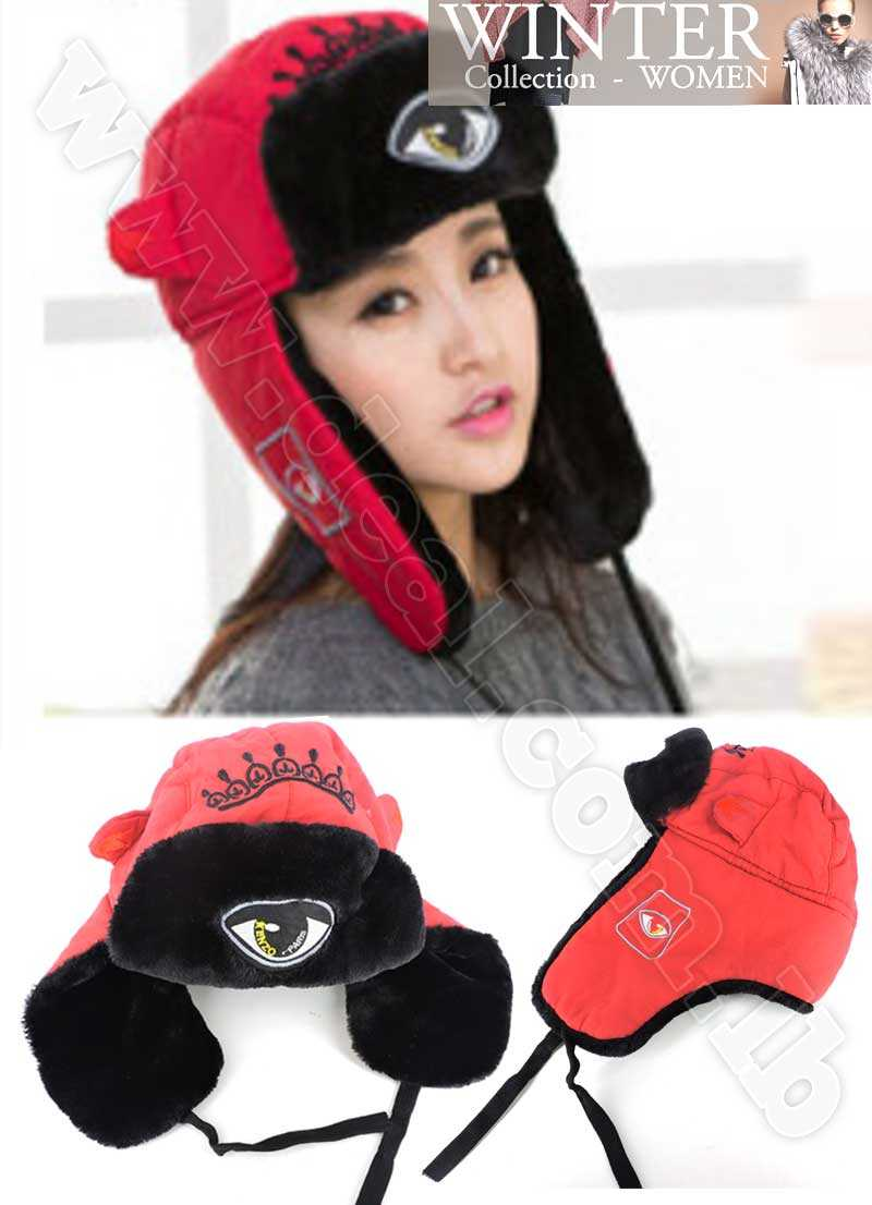 cca8031dff4 Woman Russian Outdoor Fur Bomber Hats For Women New Knitted Ski Hat Ear  Protection Winter Hats Cap Caps Earflap