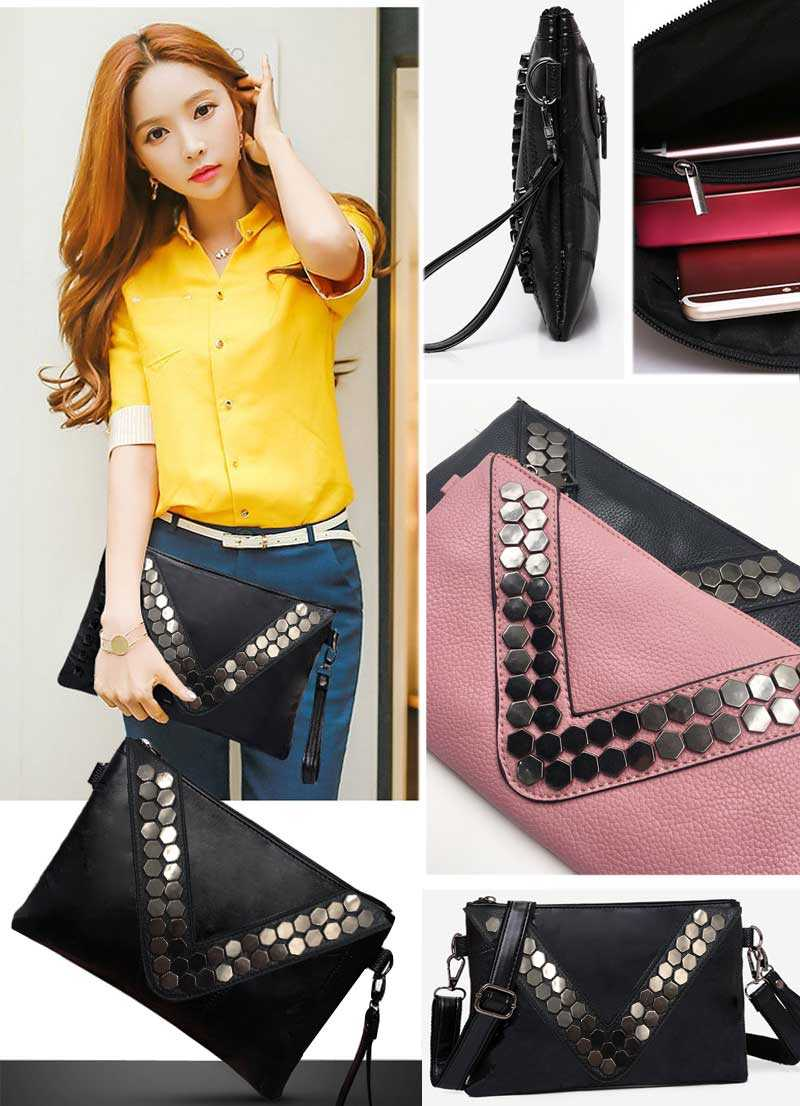 Women clutch bag black envelope clutch purse evening clutch bags for girl