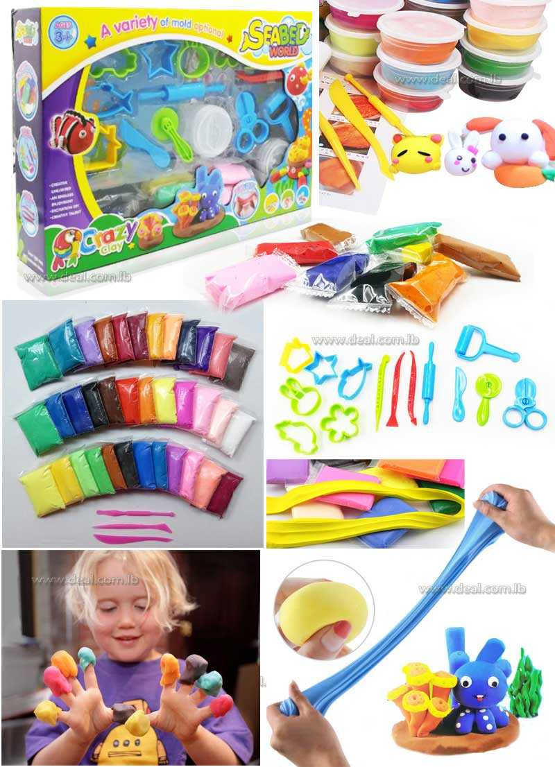 clay Air drying Soft Polymer  with tool Educational