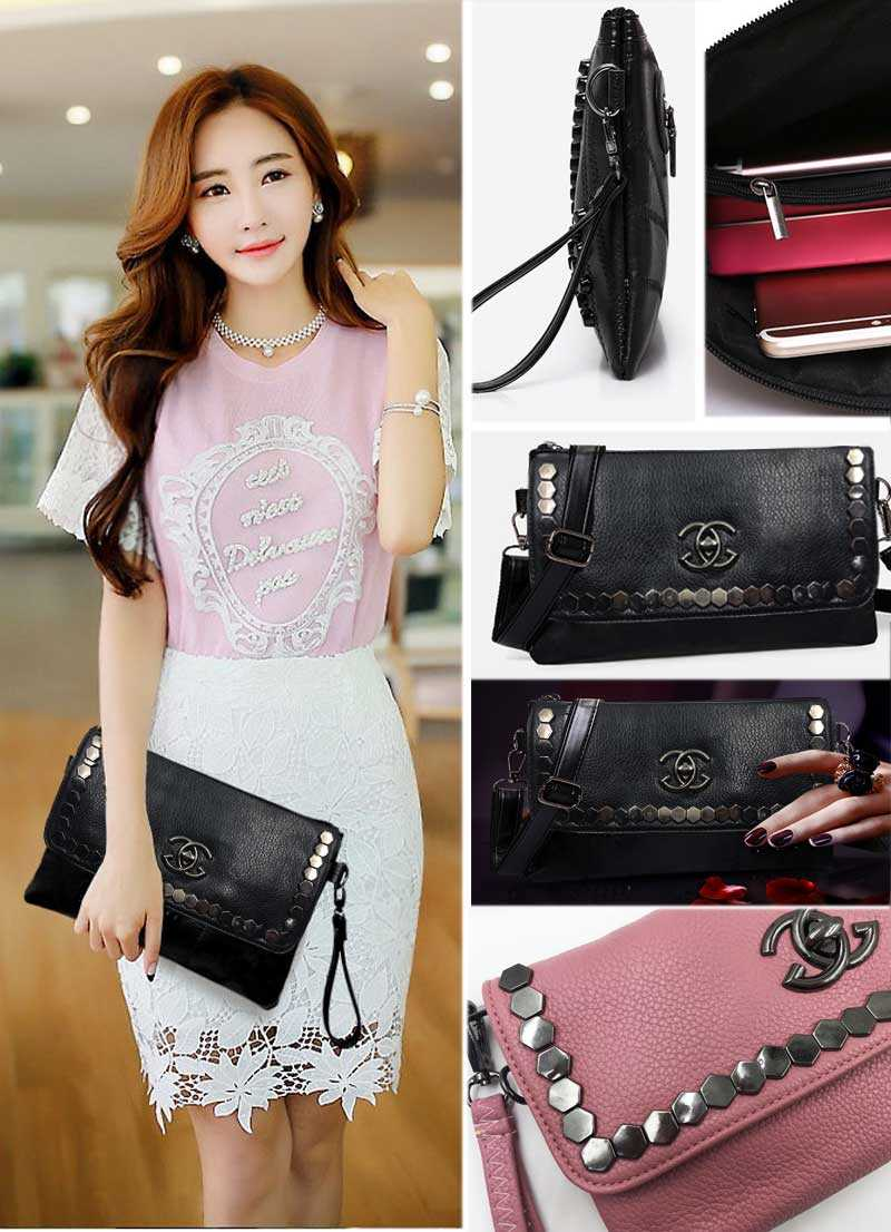 design 4 women clutch bag black envelope clutch purse evening clutch bags for girl women leather handbags