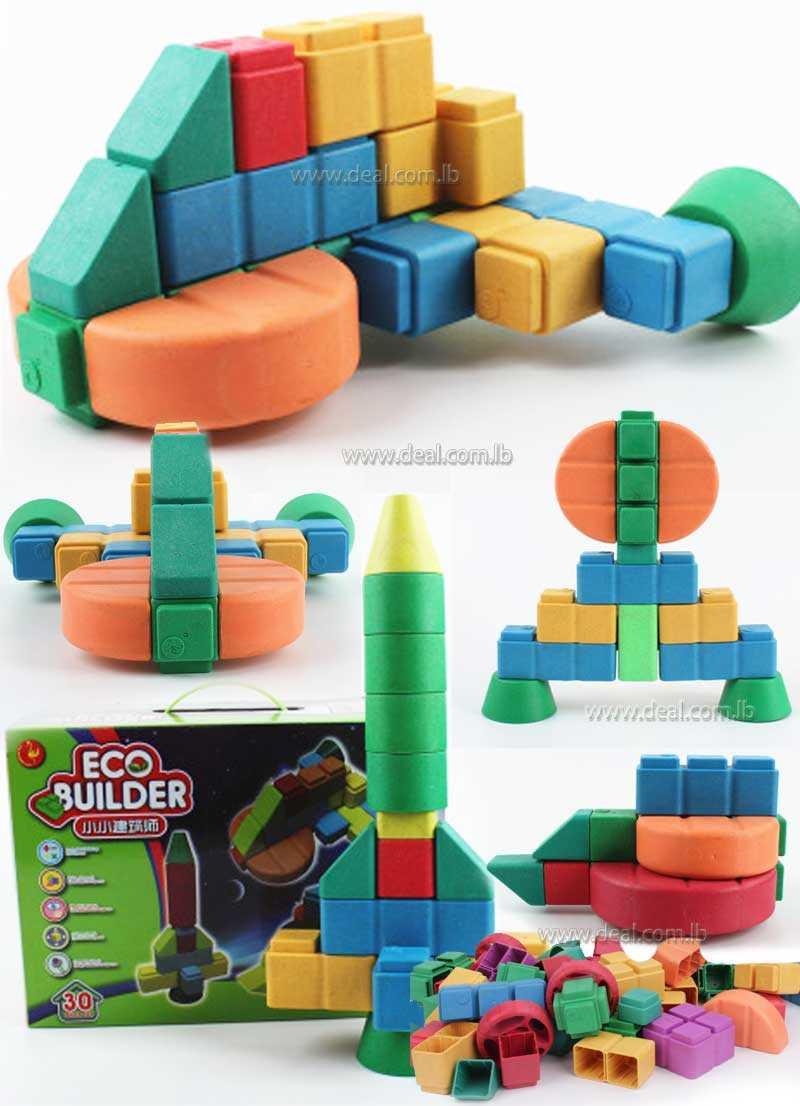 educational diy toys large size block ECO Builder spaceship (30 pcs)