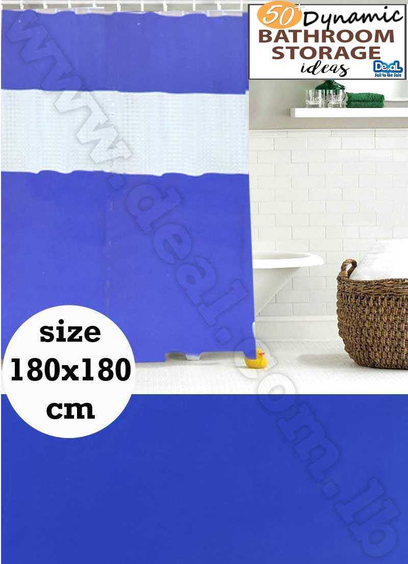 fabric shower curtain water repellent 180x180 cm