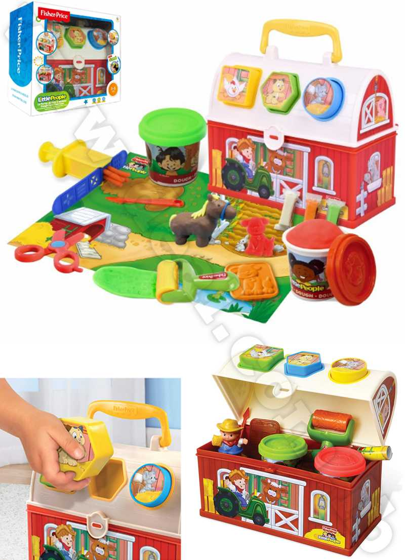 fisher price  Plasticine suitcase farm design