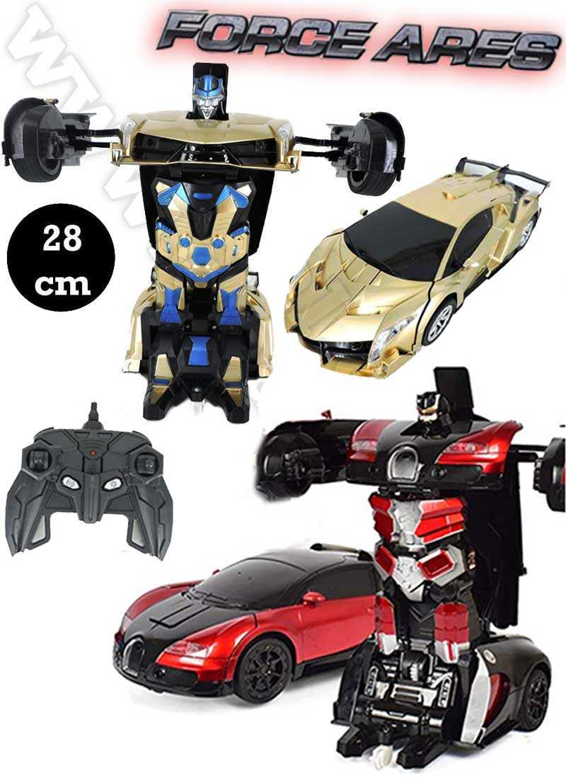 force ares change able Radio control Deform Robot One Kay Deformation Dynamic sound Dance function Speed Drift