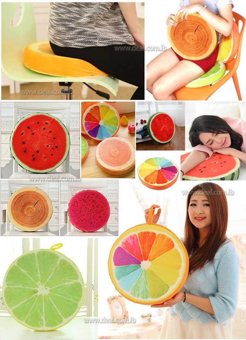 fruit removable and washing pillows  cushions