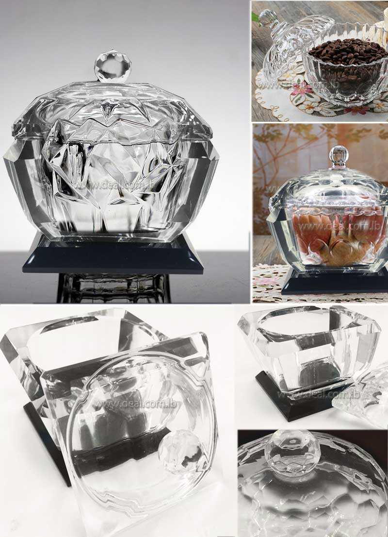 glass sugar bowl with lid large european household kitchen fruit bowl coffee canisters candy jar dried fruit