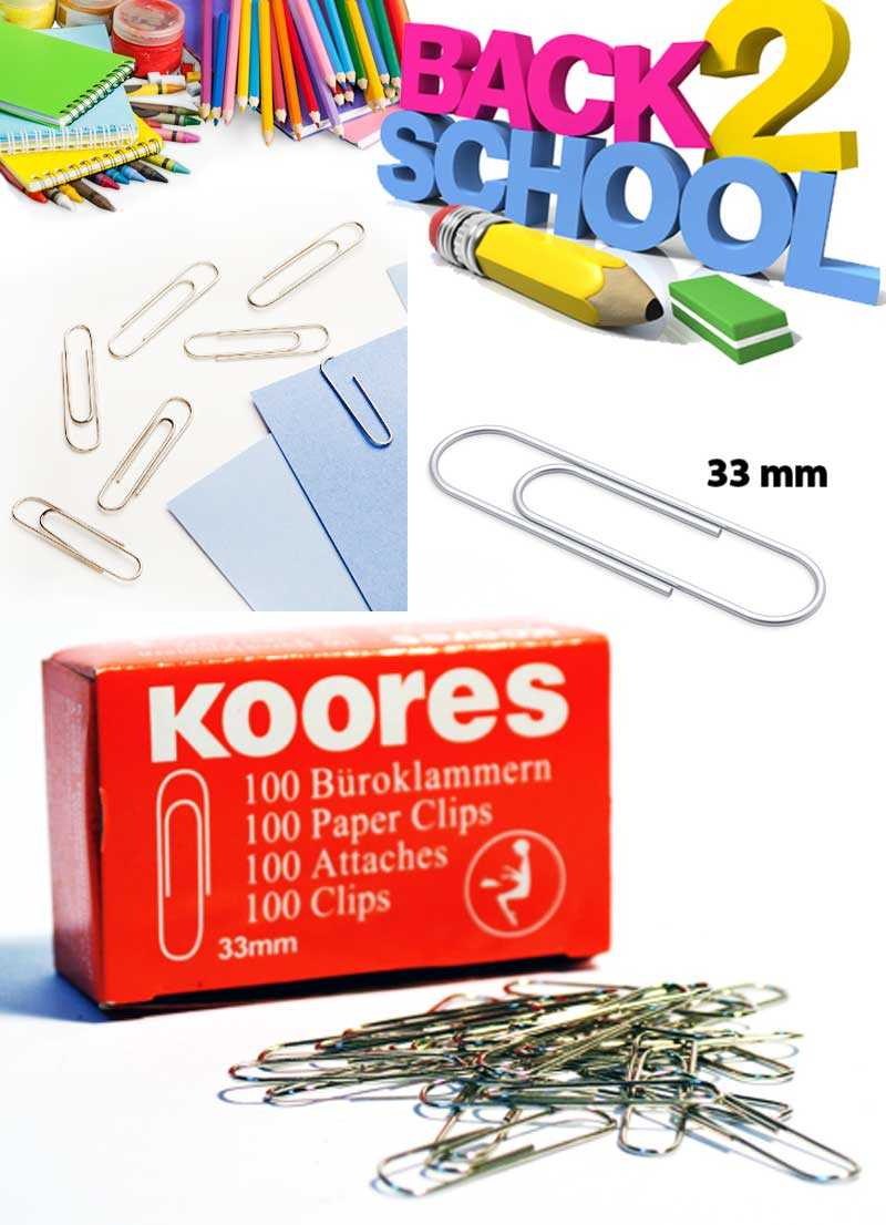 kores Paper Clips 33 MM  Round