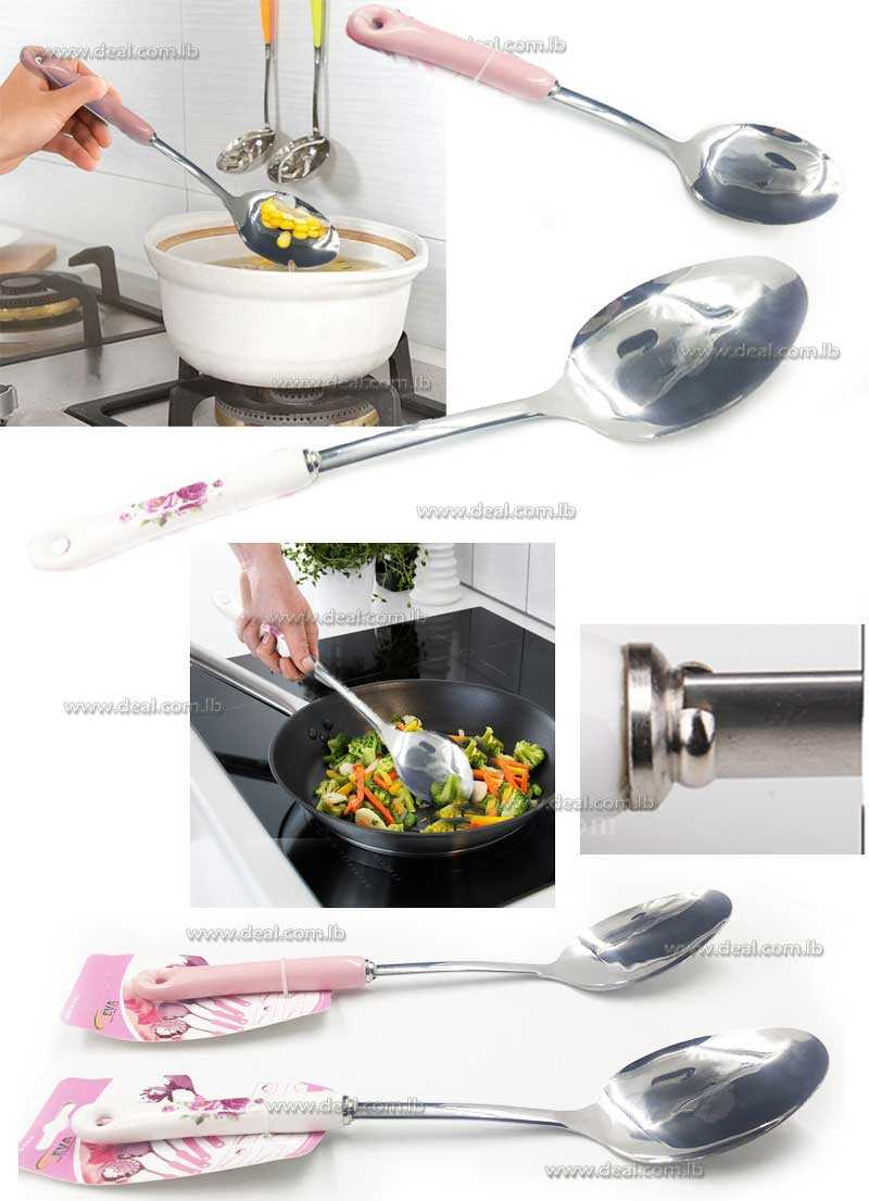 large  Spoon For Cooking Ceramic Stainless steel