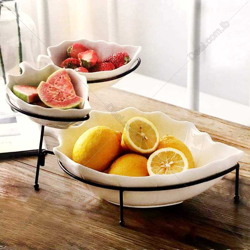 leaf bowl set with handle home fashion products