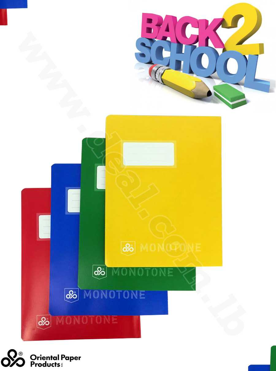 monotone 48 sheets 60 g 12 notebook