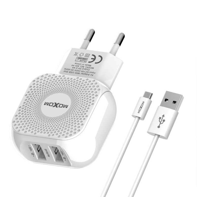 moxom fast charger 2 usb