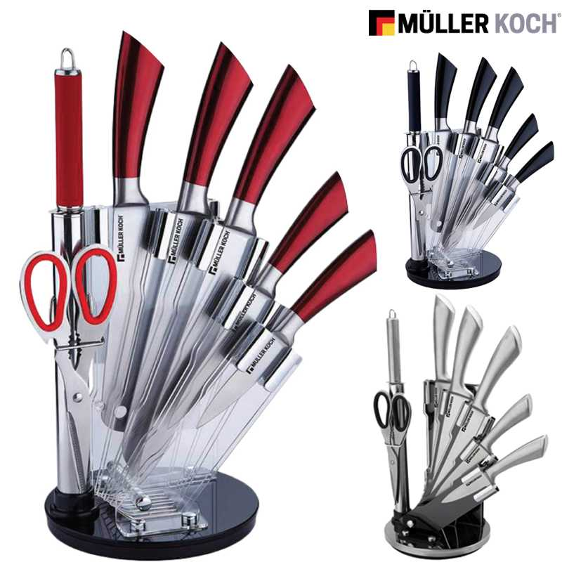 muller koch 8 pcs knife set with acrylic stand