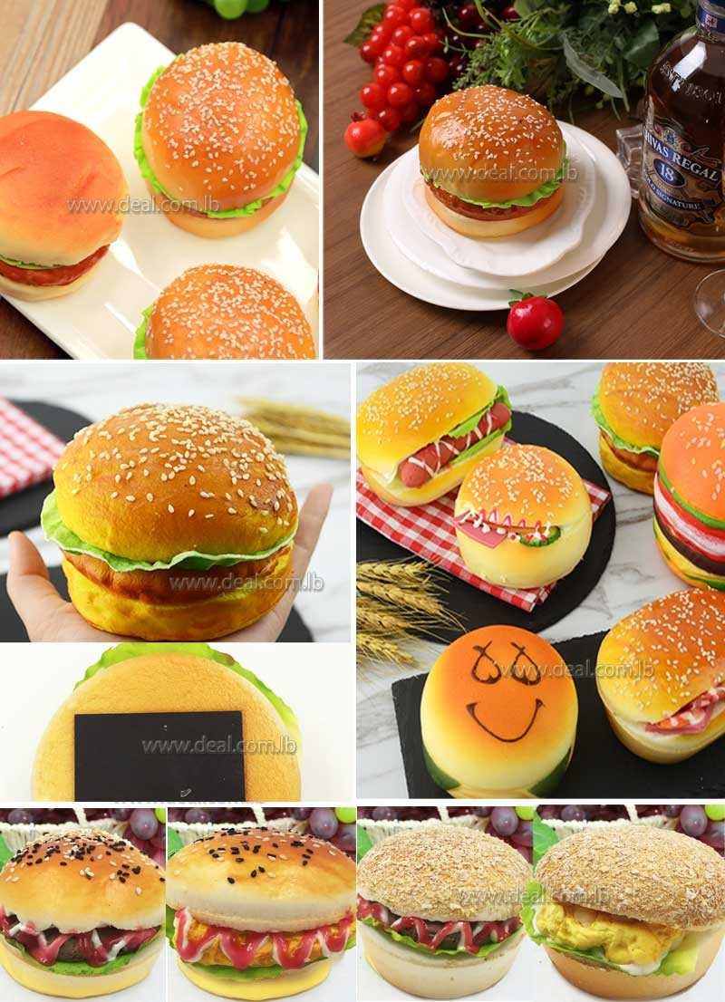 real food fake food props Hamburger display realistic home decor Cheese Miniatures creative PU material 3D artificial