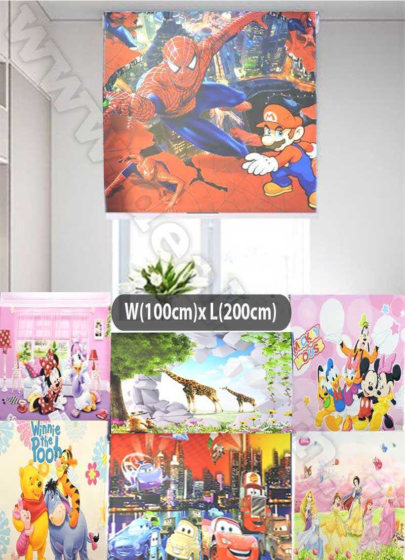 roller blinds Disney 100x200cm Best Window Coverings for Children's Bedrooms