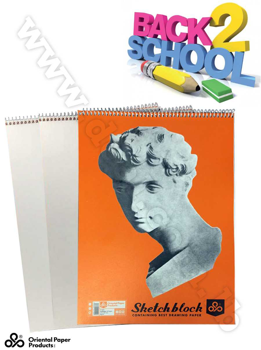 sketch block containing best drawing paper 18 sheets 80 g