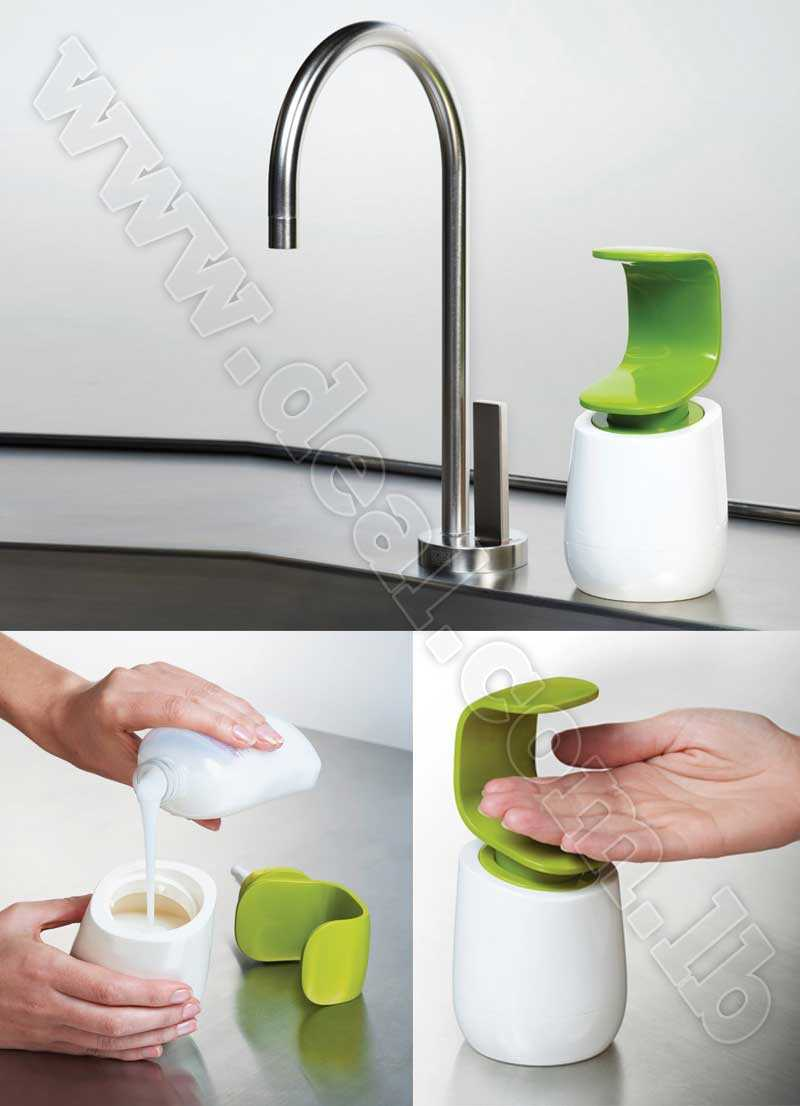 soap dispenser operate with back of hand