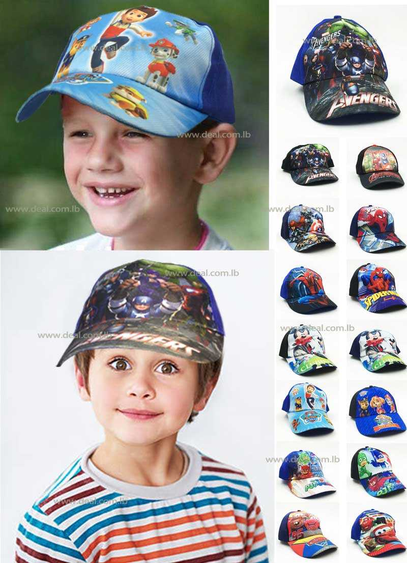 summer Boy hat children cartoon cotton beach hat visor hat ball cap