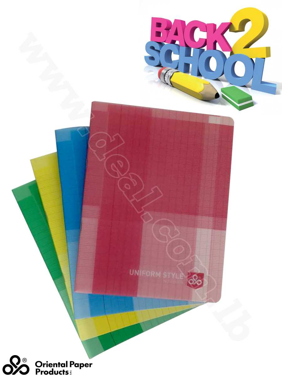 uniform style notebook 90 g 48 sheets
