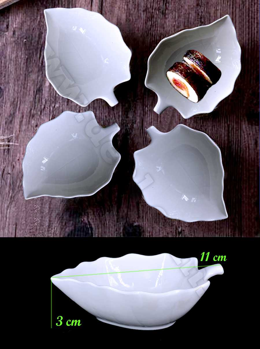 white ceramic Sauce plate 4 pcs