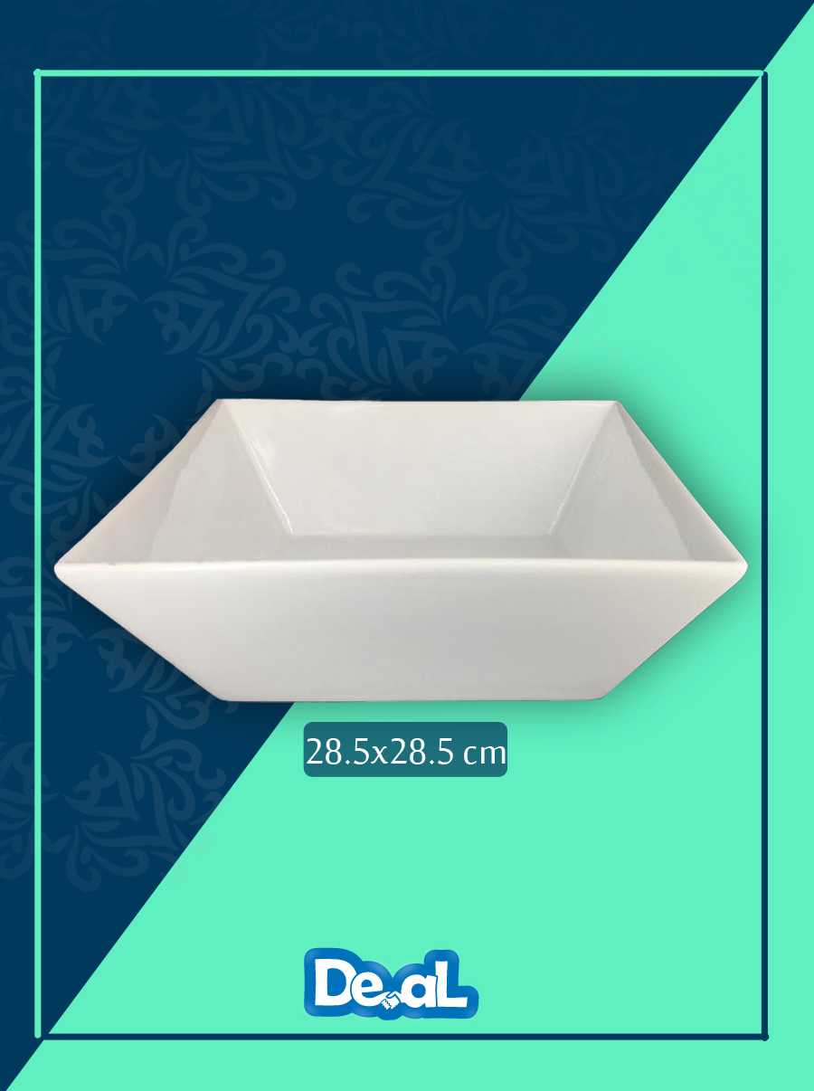 white ceramic bowl 28.5x28.5 cm