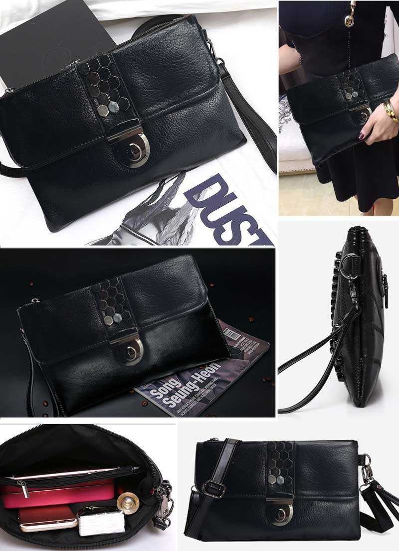 women clutch bag black envelope clutch purse evening clutch bags for girl women leather handbags