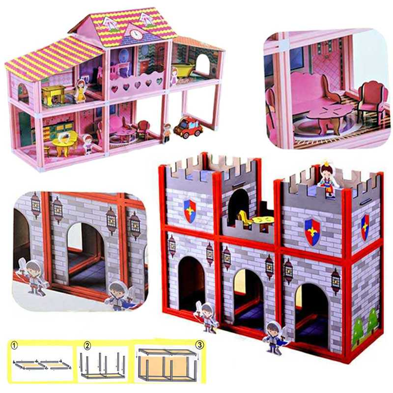 wood and plastic doll house