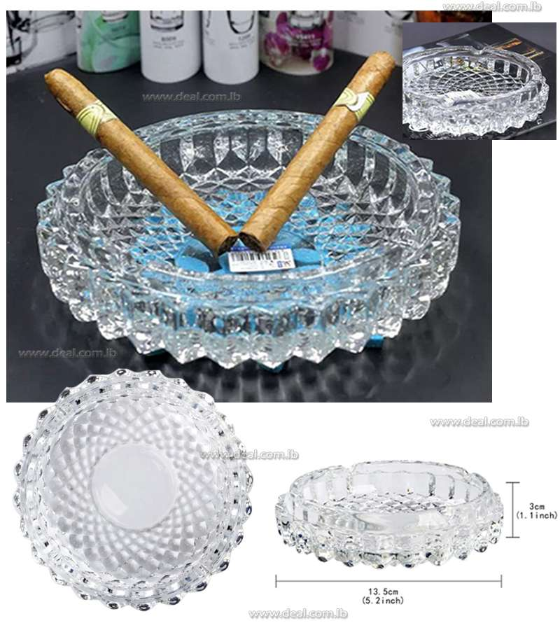 1 Piece Round Ashtray Glass Crystal